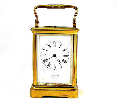 Antique 8-Day Brass Striking Repeating Carriage Clock Gay Lamaille PSR 1886