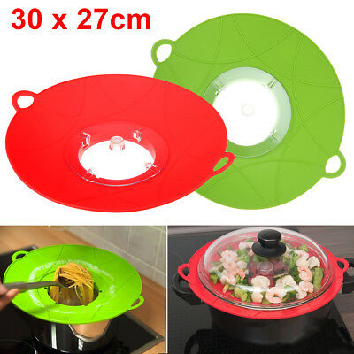 New Silicone Anti Overflow Boil Pot Lid Spill Stopper Pan Cover Kitchen Cooking