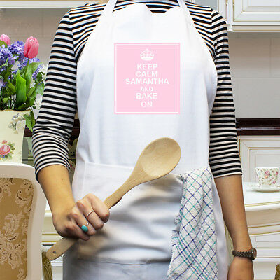 Personalise Keep Calm Apron Gift Birthday Mothers Day New Home Christmas