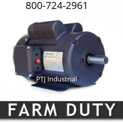 3/4 hp electric motor 56 1800 rpm single phase farm duty 1 phase