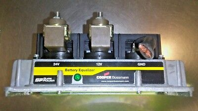 Cooper Bussmann Sure Power DC 21100E00 Equalizer 100A 24 Volt To 12 Volt - $175