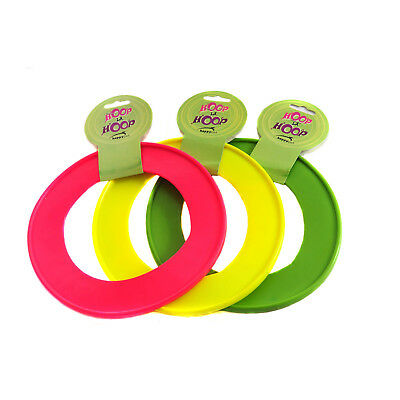 Happy Pet Hoop La Hoop Dog Puppy Large Frisbee Throw Toy Rubber Ring - 2 Sizes