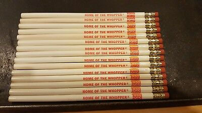 Lot of 15 Burger King Home of the Whopper Pencils 1975