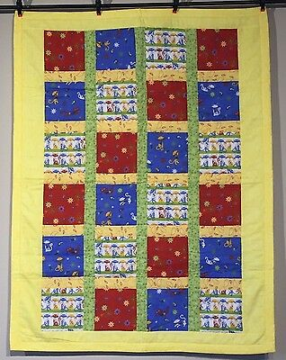 Cats NEW Handmade Unisex Baby Quilt Baby Girls Boys Spring Colors Cotton NEW