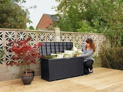Garden Storage Box Outdoor Patio Shed Chest Furniture Unit Keter Container Large