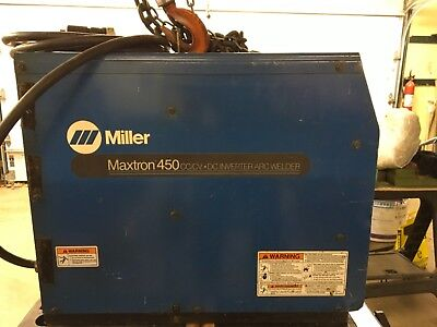 Welder, Miller Maxtron 450, can be used for Stick,Mig or Tig