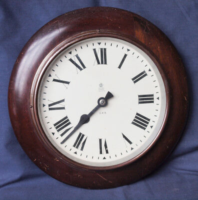 Original 1950s GPO Mahogany Wall Clock, with Synchronome Movement