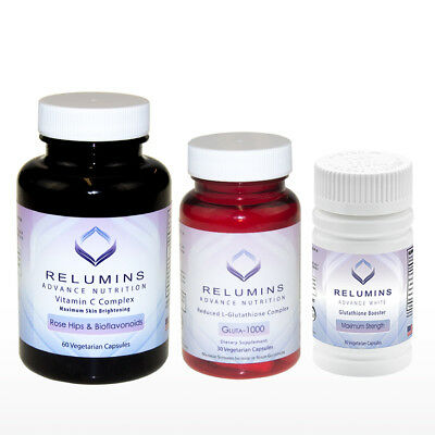 NEW RELUMINS SET! - Relumins Advance Nutrition Gluta 1000, Vitamin C MAX & Boost