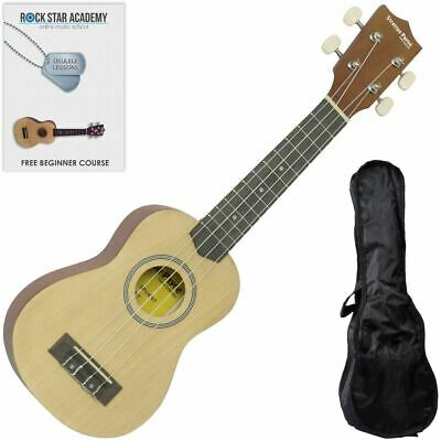 CLEARANCE - Graded B Soprano Ukulele Natural with Gig Bag and Online Ukulele Cou