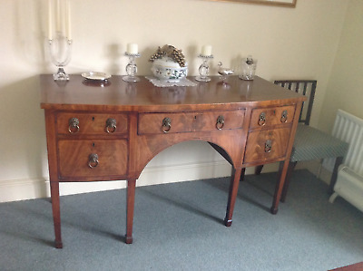 Fine Quality Antique English Georgian Bow-fronted Sideboard, excellent condition