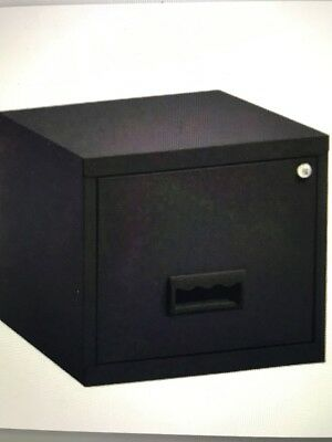1 DRAWER 'PIERRE HENRY' STEEL BLACK FILING CABINET + LOCK A4 / NEW +FREE DEL 24h