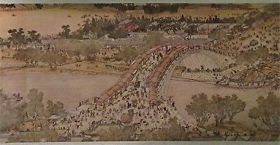 Along The River During The Qingming Festival Panoramic Painting, Chinese Scroll