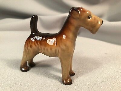 **scarce** Airedale Terrier Figurine By W.r. Midwinter, England, Unusual Size