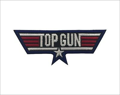 Top Gun Military Embroidered Iron On Patch Iron on Applique