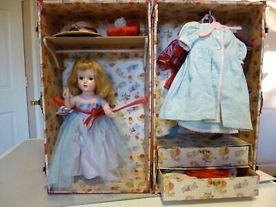 """Vintage Madame Alexander 14"""" Doll with Clothes and Trunk - original owner"""