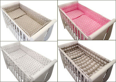 6 BabyBeddingSet/ALL ROUND BUMPER/DuvetCover/Pillowcase/Sheet for COT or COT BED