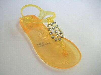 c43110285 BCBG MAXAZRIA YELLOW Rhinestone Jelly Sandals Size 5 M -  12.27 ...