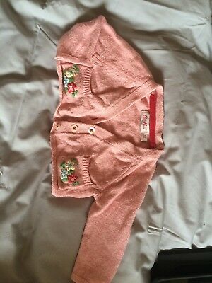 Cath Kidston Baby Girls Cardigan 0-3 Months Lovely Pink And Floral Design