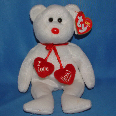 Ty Beanie Baby Truly - MWMT (Bear 2004) with hearts