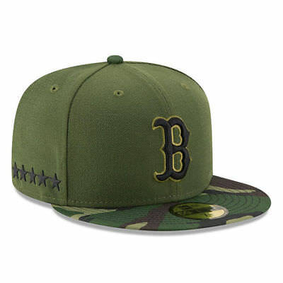 competitive price 9b34f 341ed Boston Red Sox New Era Olive Green Camo 2017 Memorial Day 59FIFTY Fitted Hat