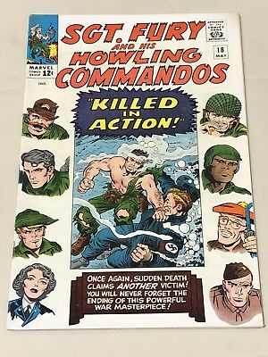 Sgt. Fury and his Howling Commandos #18 (May, 1965) Marvel 7.0 comic book
