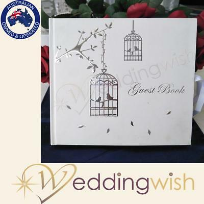Love Birds Wedding or Engagement Guest Book, 21st Birthday Guest Book
