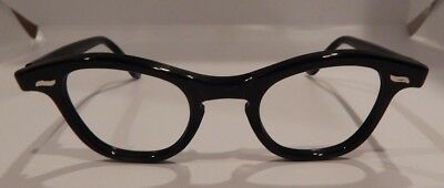 Vintage Imperial Optical Cateye Black 42/22 Eyeglass Frame New Old Stock
