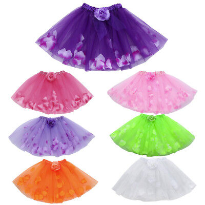 Cute High Quality Baby Girls Kids Floral Tutu Ballet Skirts Fancy Party Skirt