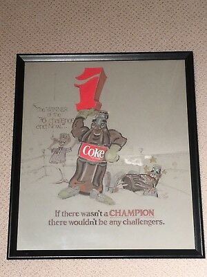 Rare Original Coca-Cola Coke One Of A Kind Pepsi Challenge Custom Drawing 1980