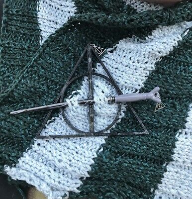 Horace Slughorn's Wand with Deathly Hallows Mark Shawl Pin Harry Potter