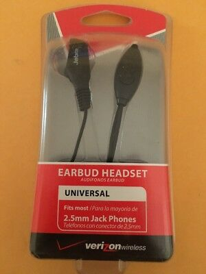 NIB Wholesale Lot 7x Verizon Jabra OEM Earbud Headset 2.5mm Black Answer/End