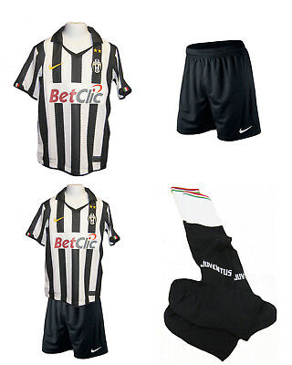 competitive price 25f7a 1ca61 NEW NIKE JUVENTUS Home Football KIT Black Shorts Socks Large Boys age 12-13