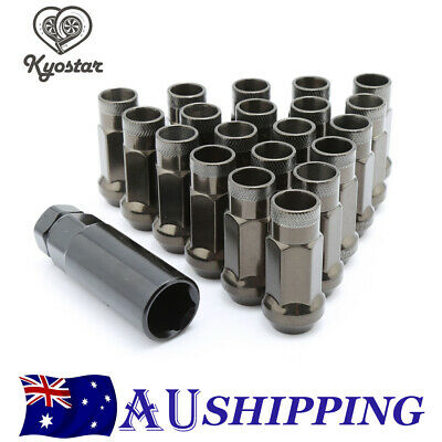 20PCS M12x1.25 Open Ended Extended Steel Lock Lug Nuts For Nissan Infiniti New