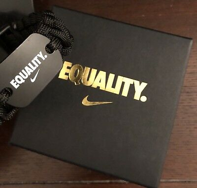 "Nike ""Equality"" Black Corded Bracelet w/Box (Small-Med)"