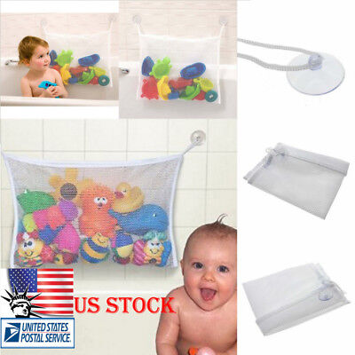 Baby Kids Bath Shower Toys Tidy Bag Bathroom Net Mesh Storage Holder Organiser