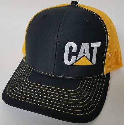 CAT Caterpillar Hvy. Machinery Richardson Trucker Mesh Snapback 112 Baseball Hat