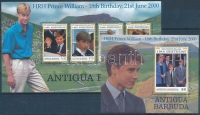 Antigua & Barbuda stamp Prince William minisheet + block MNH 2000 WS248677