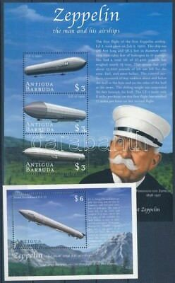Antigua & Barbuda stamp Zeppelin minisheet + blockset MNH 2000 WS248678