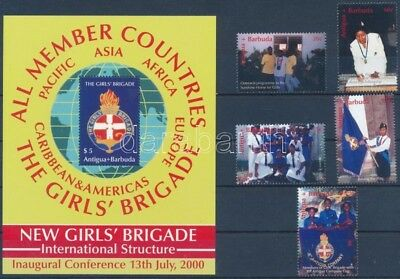 Antigua & Barbuda stamp The girls' brigade set + block MNH 2000 WS248679