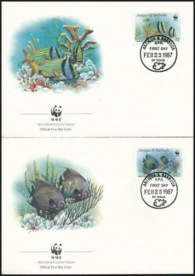 Antigua & Barbuda stamp WWF Fishes set on 4 FDC-s Cover 1987 WS248675