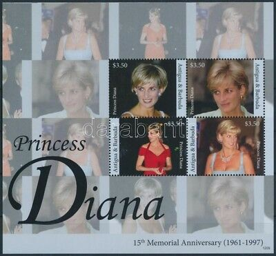 Antigua & Barbuda stamp Princess Diana mini sheet MNH 2012 Mi 5018-5021 WS248669