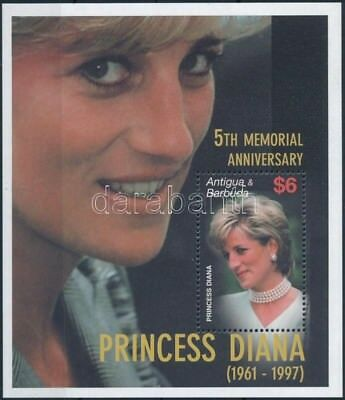 Antigua & Barbuda stamp Princess Diana's 5th death anniversary MNH 2002 WS249258