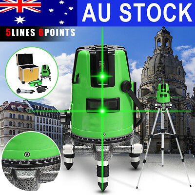 5 Lines Auto Self Leveling 3D Green Laser Level 360° Rotating Rotary w/ Tripod