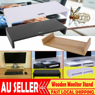 1/2Layer Wooden Monitor Stand LED LCD PC Computer Riser Desktop Display Bracket