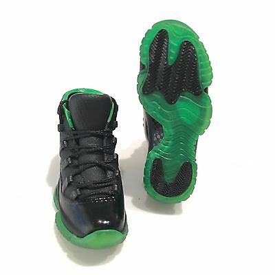 sneakers for cheap 06dd1 72467 madxo 3D mini sneaker AIR JORDAN 11BLACK GREEN 3D 1 6 action figure M20-