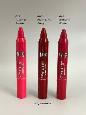 NYC Cityproof Intense Lip Color 4 Shades