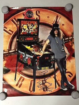 Guns N' Roses Pinball Machine Ultra Rare Promo Poster Promotional Data East WOW!