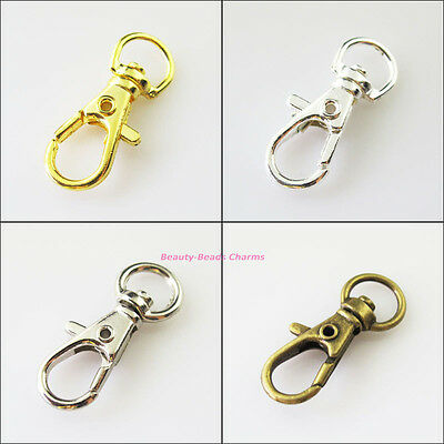 6Pcs Big Lobster Claw Clasps Key Chain Clasps Gold Silver Bronze Plated 15x36mm