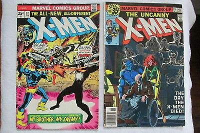 Lot of 12 X-Men - #97, #114 1st Uncanny on Cover, #155, #157-163, #165 and #182