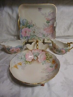 Antique Lot Of Hand Painted French And Bavaria Porcelain